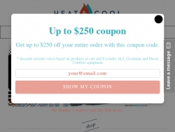 HeatAndCool Coupons August 2018