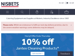 Nisbets Coupon Codes August 2018