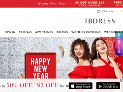 TBDress Coupon Code August 2018