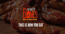 Smokey Bones $5 OFF Your Next Order Of $20+ W/ Email SignUp At Bones Clubs