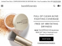 Up To $20 OFF Your Purchase + FREE Shipping At BareMinerals