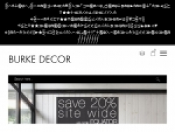 Burke Decor Promo Codes September 2018
