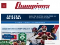 Up To 75% OFF Clearance + FREE Shipping At Champions On Display