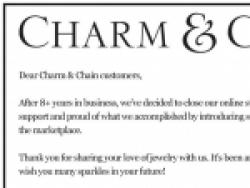 Charm & Chain Promo Codes August 2018