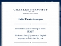 Sign Up For Special Offers + Updates From Charles Tyrwhitt