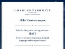 Men's Shirts From $39.00 At Charles Tyrwhitt