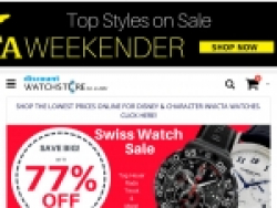 Discount Watch Store Promo Code August 2018