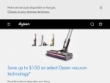 Up To 25% OFF Select Cord-free Vacuums at Dyson Canada