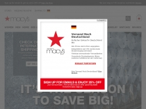 Macys Extra 20% OFF Buy Online, Pick up in Store