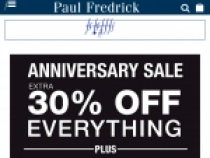 15% OFF On Next $100+ Order At Paul Fredrick