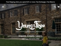 Young and Free Apparel Coupon Code August 2018