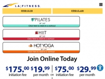 Membership As Low As $24.99/month At LA Fitness