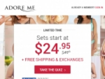 Your First VIP Set Only For $19.95 When Sign Up At Adore Me