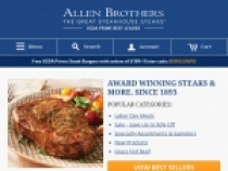Free USDA Prime Strip Steaks W/ Orders of $299+ At Allen Brothers
