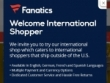 Earn 3% Fancash On All Orders W/ Fanatics Rewards