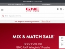 Up To 60% OFF Sale + FREE Shipping At GNC