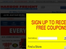 FREE $10 Harbor Freight Tools' Gift Card With Membership