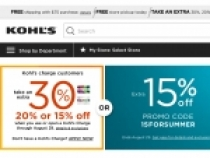Kohls Extra 15% Off Sitewide + Free Shipping Over $75