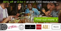 TasteCard 50% OFF Foodbill Or 2 Meal For 1