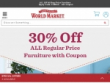 15% OFF + FREE Shipping With Email Sign Up at World Market