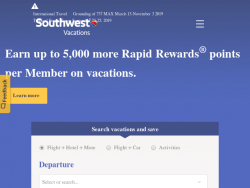 Southwest Airlines Vacations Coupon Codes August 2018